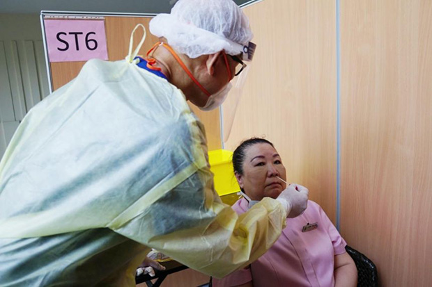 Singapore General Hospital says it has started one-off Covid-19 swab testing.  PHOTO SINGAPORE GENERAL HOSPITAL/FACEBOOK