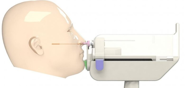 First fully patient controlled Nasal Swab Robot